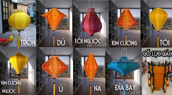Các loại Lồng Đèn Hội An - Lồng Đèn Việt
